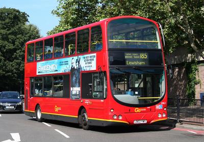 Route 185, Go Ahead London, VWL1, LB02YWX, Lewisham
