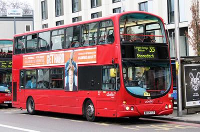 Route 35, Abellio London 9011, BX54DJD, Elephant & Castle
