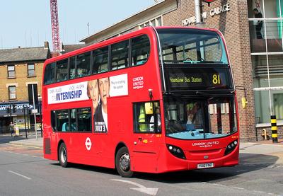 Route 81, London United RATP, ADE17, YX12FNZ, Hounslow