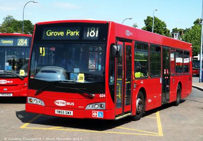 Route 181, Metrobus 604, YM55SWX, Lewisham