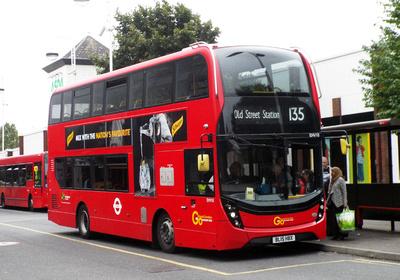 Route 135, Go Ahead London, EHV10, BL15HBX, Crossharbour