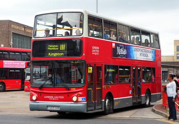 Route 111, London United RATP, VA80, V203OOE, Hounslow