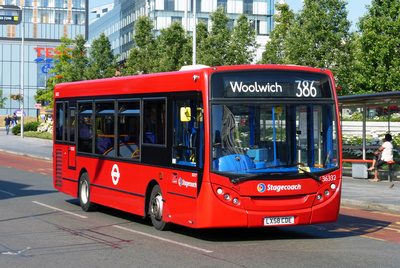 Route 386, Stagecoach London 36332, LX58CDE, Woolwich