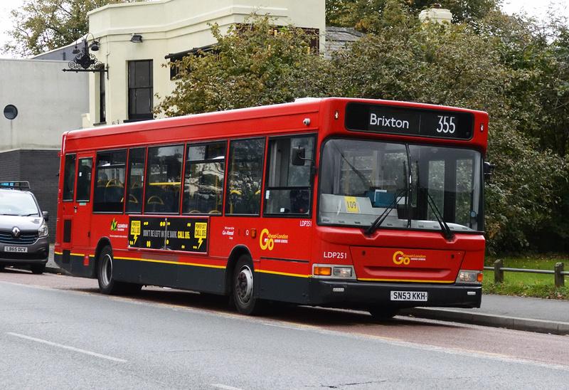 London Bus Routes | Route 355: Brixton - Mitcham