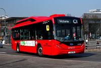 Route C1, London United RATP, BE37025, LJ18FKM, Shepherd's Bush