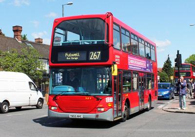 Route 267, London United RATP, SLE9, YN55NHC, Fulwell