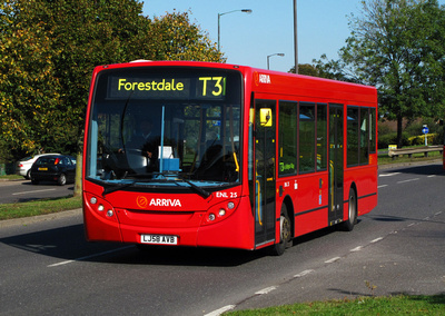 Route T31, Arriva London, ENL25, LJ58AVB, Addington Village