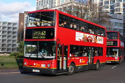 Route 63, London Central, AVL24, V124LGC, Elephant & Castle