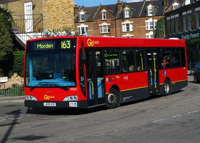 Route 163, Go Ahead London, SOE23, LX09AZG, Wimbledon