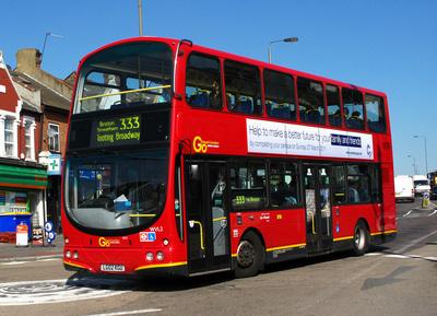 Route 333, Go Ahead London, WVL2, LG02KGU, Tooting
