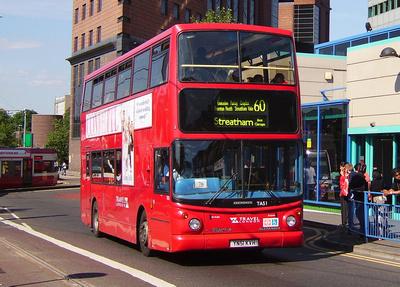 Route 60, Travel London, TA51, YN51KVH, Croydon