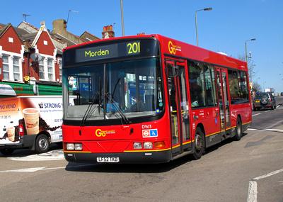Route 201, Go Ahead London, DW3, LF52TKD, Mitcham