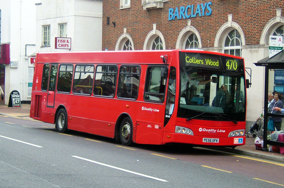 London Bus Routes: Route 470: Colliers Wood - Epsom &emdash; Route 470, Quality Line, SD45, PE56UFK, Epsom