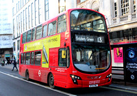 Route 13, London Sovereign RATP, VH13, BT12YWL, The Strand