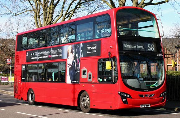 London Bus Routes: Route 58: East Ham, Central Park - Walthamstow Central &emdash; Route 58, Tower Transit, VN37850, BV10WWH, Walthamstow