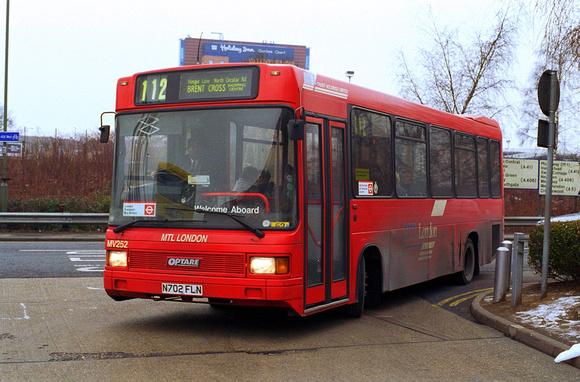 London Bus Routes: Route 112: Brent Cross - Ealing Broadway &emdash; Route 112, MTL London, MV252, N702FLN, Brent Cross