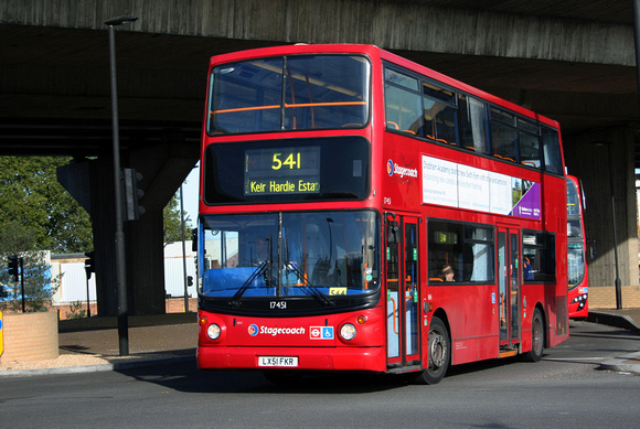 London Bus Routes: Route 541: Keir Hardie Estate - Prince Regent &emdash; Route 541, Stagecoach London 17451, LX51FKR, Canning Town