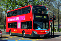 Route 37, London Central, E37, LX06FKM, Clapham Common