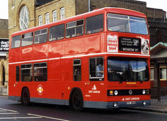 London Bus Routes: Route 58A: Canning Town - Walthamstow [Withdrawn] &emdash; Route 58A, East London Buses, T354, KYV354X