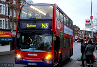 Route N5, Metroline, TE714, LK56FHG, Golders Green