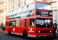 Route N51, London Central, T1087, B87WUV, Trafalgar Square