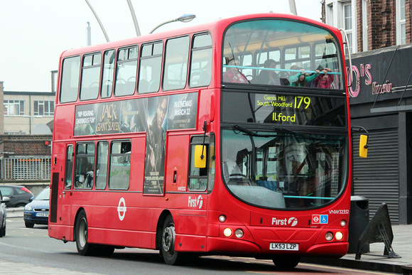 London Bus Routes: Route 179: Chingford Station - Ilford &emdash; Route 179, First London, VNW32352, LK53LZP