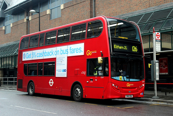 London Bus Routes: Route 126: Bromley South - Eltham, High Street &emdash; Route 126, Go Ahead London, E209, SN61DDA, Bromley