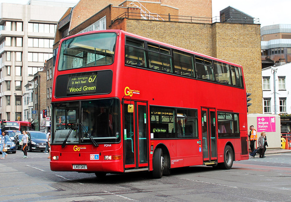 London Bus Routes: Route 67: Aldgate - Wood Green &emdash; Route 67, Go Ahead London, PDN4, LN51GKE, Aldgate
