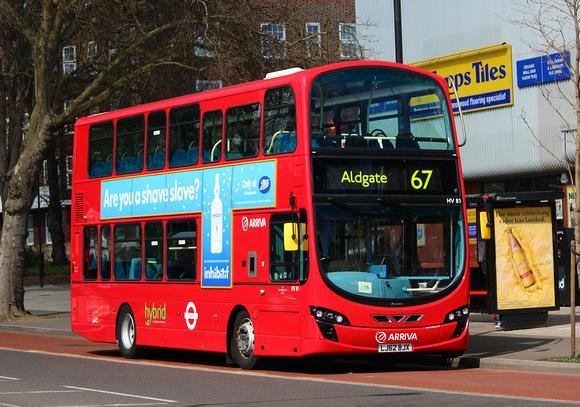 London Bus Routes: Route 67: Aldgate - Wood Green &emdash; Route 67, Arriva London, HV81, LJ62BJX, Stamford Hill
