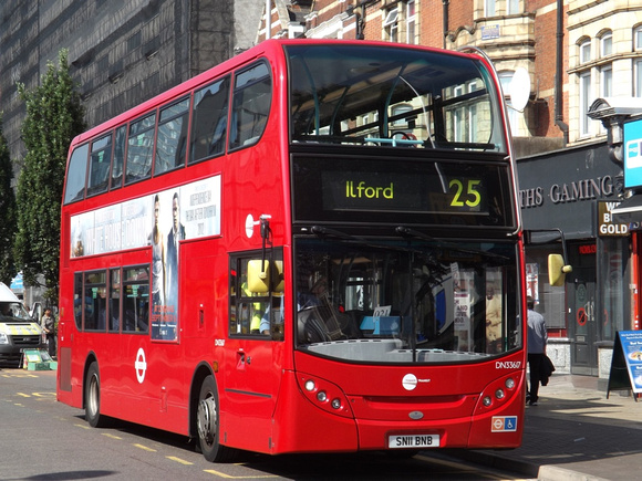 London Bus Routes: Latest Photographs 26th - 31st August &emdash; Route 25, Tower Transit, DN33615, SN11BNB, Ilford