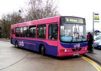 Route 658, Uno Bus, DFW774, X774EVS, London Colney