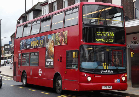 London Bus Routes: Route 256 Hornchurch, St. George's Hospital - Noak Hill &emdash; Route 256, Arriva Southend 6114, LJ05BKD, Hornchurch