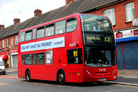 Route E3, First London, DN33594, SN09CFJ, Lionel Road North