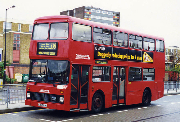 London Bus Routes: Route 330: Canning Town - Wanstead Park Station &emdash; Route 330, Stagecoach London, S55, K855LMK, Canning Town