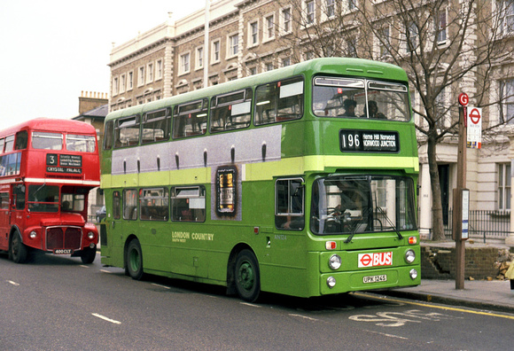London Bus Routes: Route 196: Elephant & Castle - Norwood Junction &emdash; Route 196, London Country, AN124, UPK124S