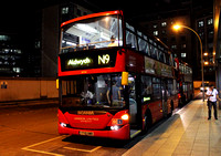 Route N9, London United RATP, SP166, YT10UWB, Hammersmith