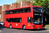 Route 35, Go Ahead London, MHV12, BU16OYW, Clapham Junction
