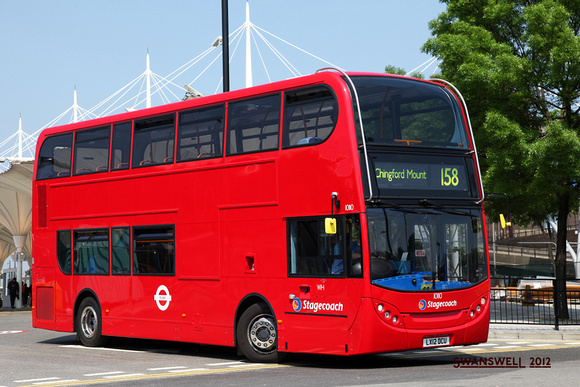 London Bus Routes: Route 158: Chingford Mount - Stratford &emdash; Route 158, Stagecoach London 10110, LX12DCU, Stratford