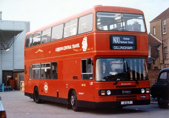 London Bus Routes: Route NX1: Trafalgar Square - Gillingham &emdash; Route NX1, London Central, L261, 2CLT, Gillingham