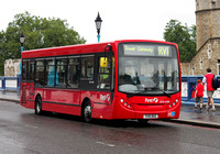 Route RV1, First London, DML44158, YX10BGE, Tower Hill
