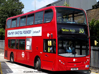 Route 30, Tower Transit, DN33617, SN11BNB, Hackney Wick