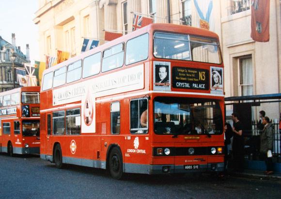London Bus Routes: Route N3: Bromley North - Trafalgar Square &emdash; Route N3, London Central, T985, A985SYE, Trafalgar Square