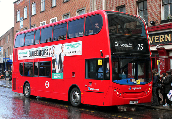 London Bus Routes: Route 75: Croydon Town Centre - Lewisham Station &emdash; Route 75, Stagecoach London 12285, SN14TXD, Lewisham