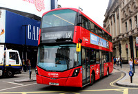 Route 19, Arriva London, HV257, LK66GEY, Piccadilly Circus