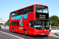 Route 243, Arriva London, DLA278, Y478UGC, Waterloo Bridge