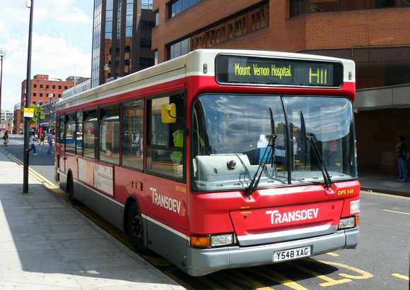 London Bus Routes: Route H11: Harrow - Mount Vernon Hospital &emdash; Route H11, London Sovereign, DPS548, Y548XAG, Harrow Bus Station