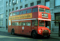 Route 43, London Transport, RML2491, JJD491D, Moorgate