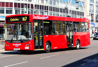 Route 167, Docklands Buses, ED18, LX07BYJ, Ilford