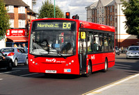 Route E10, First London, DMS44412,YX09FMP,Greenford, Red Lion