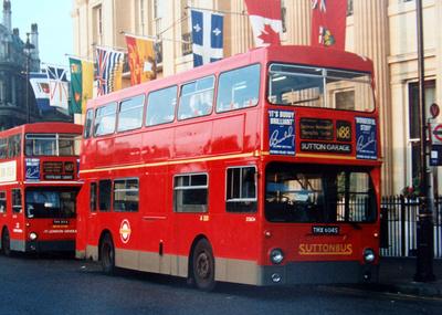 London Bus Routes: Route N88: Farringdon Street - East Croydon &emdash; Route N88, Suttonbus, D2604, THX604S, Trafalgar Square